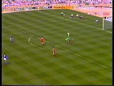 LIVERPOOL FC V EVERTON FC -FA CUP FINAL 1989 - THE MATCH - PART THREE. FIRST HALF - SECOND PERIOD OF THE 1989 FA CUP.