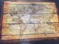 Vintage map pallet sign