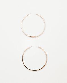Image 1 of LARGE HOOP EARRINGS from Zara