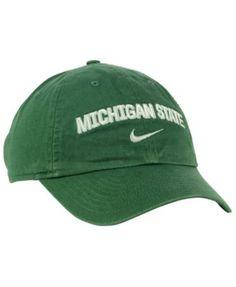 huge selection of db4af 259b2 Nike Michigan State Spartans H86 Wordmark Swoosh Cap - Green Adjustable