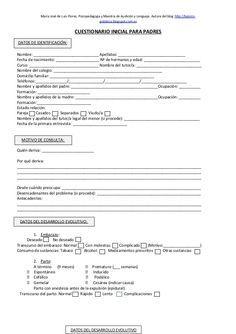 Cuestionario inicial para padres