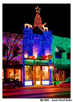 Christmas on Main Street in Downtown Rochester, Michigan