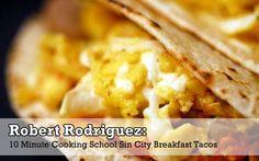 breakfast tacos w/ homemade tortillas