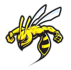free PNG hornet clipart wasp sting - honey bee mascot logo PNG image with transparent background PNG images transparent Logo E Sports, Sports Team Logos, Mascot Design, Logo Design, Arte Cholo, Logo Bee, Art Tumblr, Desenho Tattoo, Game Logo