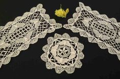 Vintage, Retro, Three Butterfly Doilies