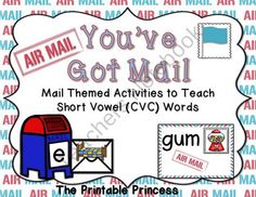 Youve Got Mail! Mail Themed Short Vowel CVC Word Activities Kindergaten & 1st from The Printable Princess on TeachersNotebook.com (43 pages)  - Mail themed activities to teach short vowel CVC words!
