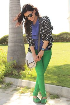 Color Blocking – Playing with Lime Green and Blue .. see post http://www.bloglovin.com/blog/6963199/fashionbyruda
