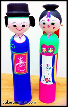 Korean Wooden Dolls