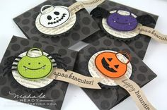 """""""halloween treats and sweets"""" stamps and coordinating dies by papertrey ink (mini cards by nichole heady)"""