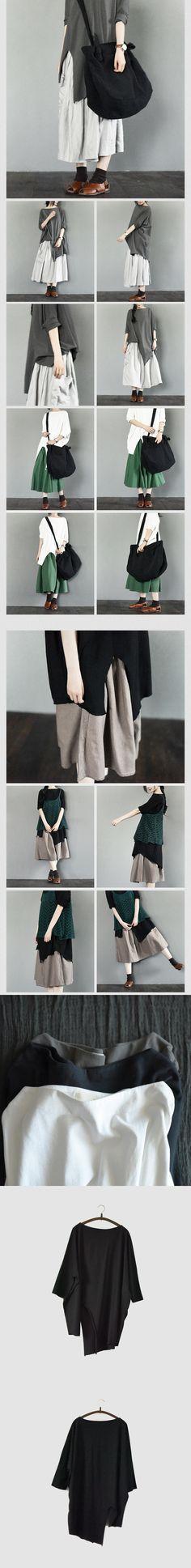 kjjk Edge White/Black Simple Bat Sleeve T-shirt Causel Matching Blouse Women Clothes