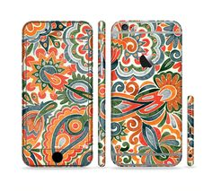 The Vintage Hand-Painted Coral Abstract Pattern Sectioned Skin Series for the Apple iPhone 6s Plus