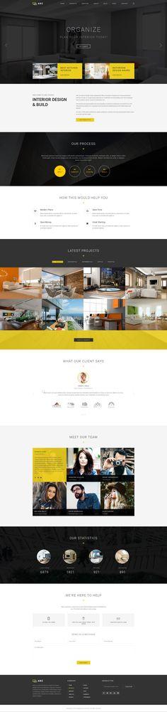 ARC   Interior Design, Decor, Architecture Business PSD Template