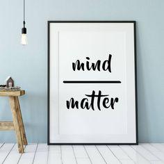 Mind Over Matter Zen Mindfulness Poster - Minimalist Style Zen Office, Office Art, Office Ideas, Office Cube, Loft Office, Apartment Office, Office Walls, Small Office, Zen Home Decor