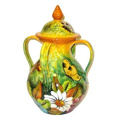 Small Majolica Jar with Four Handles