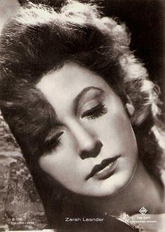 Zarah Leander- Swedish film cabaret actress singer