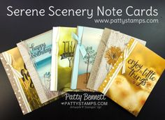 Serene Scenery Note Card Video Tutorial | Patty's Stamping Spot | Bloglovin'