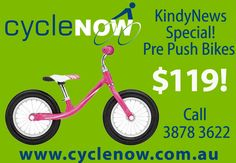 Push Bikes are really cool for kids who are learning to ride bikes - no need for training wheels!