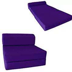 Sleeper Chair Folding Foam Bed - Studio Foam Mattress, Purple Mattresses Studio Foam, Studio Bed, Latex Mattress, Foam Mattress, Twin Sleeper Chair, Bed In Living Room, Look Good Feel Good, Guest Bed, Sofa Bed