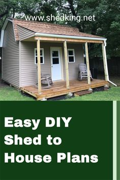 If you're thinking of building a shed to house this 16x18 shed with huge loft and nice side porch will make the perfect livable shed. You can build a granny flat, guest house, shed house, or even a nice workshop or hobby studio to work out of. Check out these diy plans that come complete with construction guide, detailed building blueprints, materials list, and email support. Livable Sheds, 3d Building Models, Build Your Own Shed, Shed Building Plans, Side Porch, Storage Shed Plans, Shed Homes, Granny Flat, Diy Shed