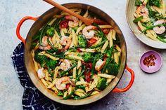 One-Pot Pasta Primavera with Shrimp