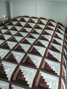 Brown Log Cabin Quilt