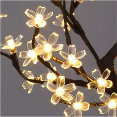 24 LED Christmas Decorations Mini Bonsai Blossom Tree Table//Fireplace Decor