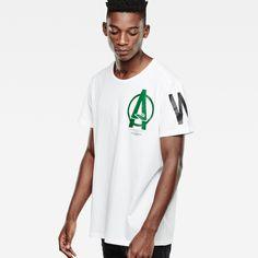 G-Star RAW | Men | T シャツ | Lesheim T-shirt , White