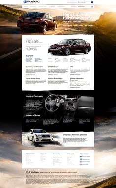 Subaru Concept Site by Dennis Ventrello, via Behance