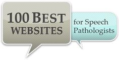100 Best Websites for Speech Pathologists - PediaStaff is honored to be #3!  - Pinned by @PediaStaff. - Please Visit http://ht.ly/63sNt for all our pediatric therapy pins