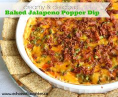 Echoes of Laughter: Baked Jalapeno Popper Dip