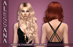 Alessana Sims's Newsea`s Chambers hair retextured - Long hairstyles ~ Sims 4 Hairs Pelo Sims, Download Hair, Sims 4 Cc Packs, Sims Hair, Sims 4 Update, Sims 4 Cc Finds, Very Long Hair, Sims 4 Mods, Sims 4 Custom Content