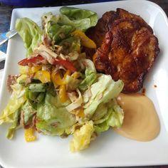 Salat italienische Art mit Steak