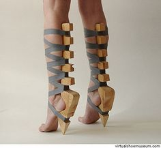 """30 Insane High Heels That Will Make Your Feet Hurt """"So here's what we're gonna do. See that duct tape and all that ply wood I have? Yeah, we're gonna make fashion happen."""""""