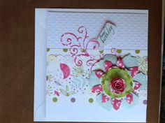 Card using Tim Holtz tattered flower die