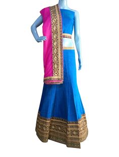 ‪#‎BuyNow‬ Blue Pure Silk Double Toned Shaded Dye Wedding Lehenga Choli With Blouse only at Lalgulal.com. ‪#‎Price‬ :- 5202/- inr. To ‪#‎Order‬ :- http://goo.gl/0hFavo To Order you Call or ‪#‎Whatsapp‬ us on +91-95121-50402 COD & Free Shipping Available only in India.
