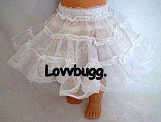 "Lovvbugg Crinoline Slip for 18"" American Girl Doll Clothes Widest Selection!"