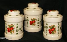 Cherry Canister Set6 pc.CeramicHandcrafted7T & by CeramicsbyKimi, $39.99