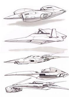 Several concept sketches.