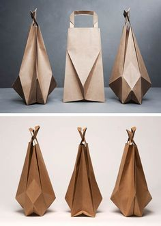 Paper bag origami by Ilvy Jacobs  #design #origami #paper