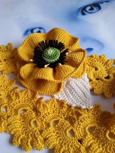 Hey, I found this really awesome Etsy listing at https://www.etsy.com/ru/listing/261051135/crochet-yellow-poppy-headband-hair-band