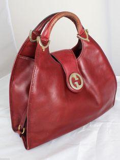 dreaming of Gucci. Vintage Purses, Vintage Gucci, Vintage Handbags, Horse Bits, Leather Satchel Handbags, Italian Fashion, Balenciaga City Bag, Red Leather, Gucci Bags