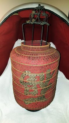 19th Century Chinese Lantern made with Red Cloth by TimelessArtLLC on Etsy