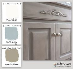 DIY: How To Get This Restoration Hardware Finish on Cabinetry with Chalk Paint.
