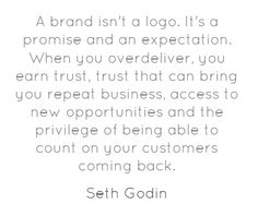 A brand isn't a logo #branding #marketing #quote