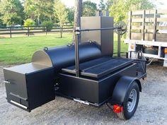 Custom bbq smoker pit with a rib box
