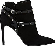 Valentino Rockstud Ankle Booties - Boots - 503988093