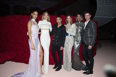Joan Smalls, Doutzen Kroes, Olivier Rousteing, Alessandra Ambrosio, Jourdan Dunn, and Sean O'Pry