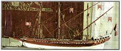 """"""" Ομοίωμα μεσαιωνικού βενετικού εμπορικού πλοίου (Βενετία, Ναυτικό Μουσείο). """" (από το σχολικό βιβλίο σελ. 59)"""