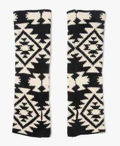 Southwest Knit Arm Warmers