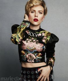 Scarlett Johansson for Marie Claire Magazine | Tom + Lorenzo